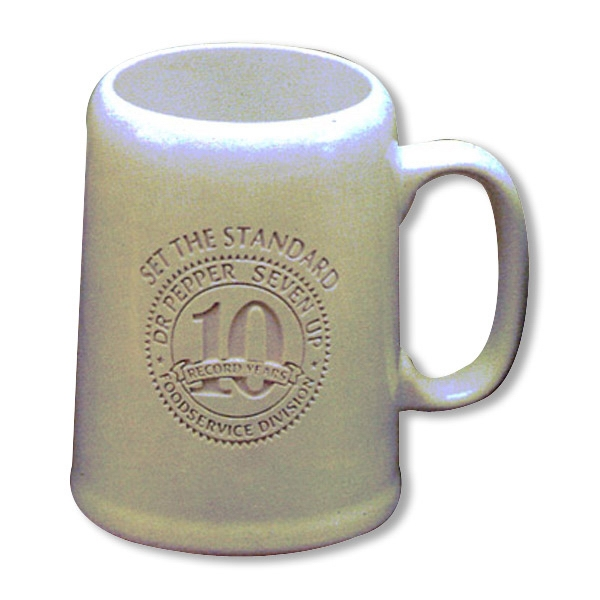 Tankard - White Mug. Our Deep Engraved Mug For Your Favorite Brew Photo