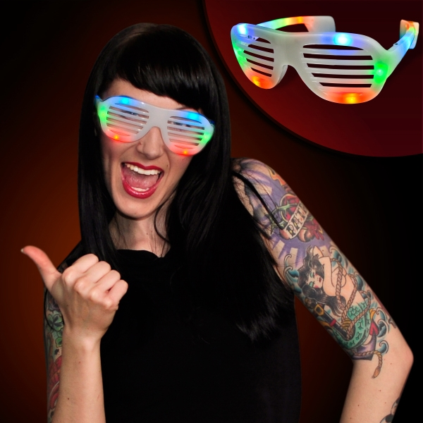 LED hip hop fashion celebrity sunglasses