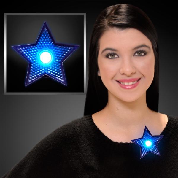 LED blinking blue star clips