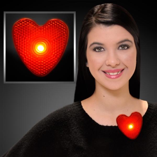 LED blinking red heart clip