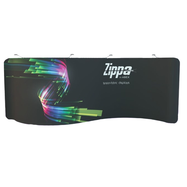 20' Zippa Serpentine Display - 20' serpentine display includes frame, dye sublimation fabric and 2 carry bags.