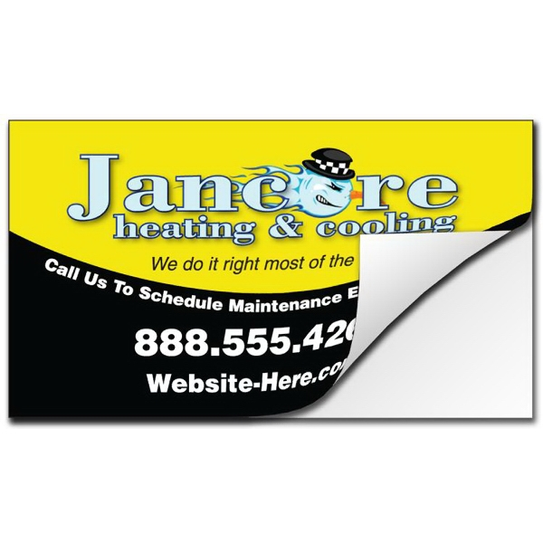 Removable Business Card Sticker/decal - Vinyl Uv Coated - 3.5 X 2 Photo