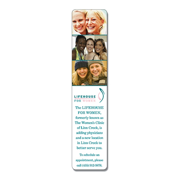 Plastic Bookmark - 1.75 X 8 Laminated - 14 Pt Photo