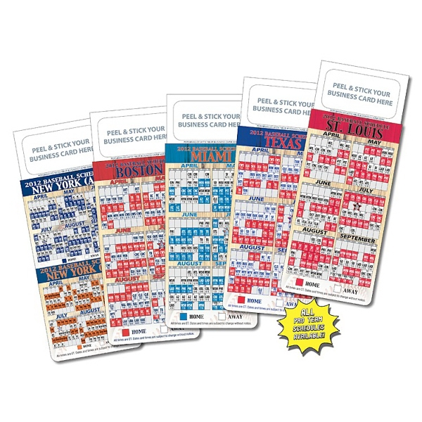 "M.b.c. Sport Schedules - Pro Baseball (3.5"" X 9""). Available To Ship In March Photo"