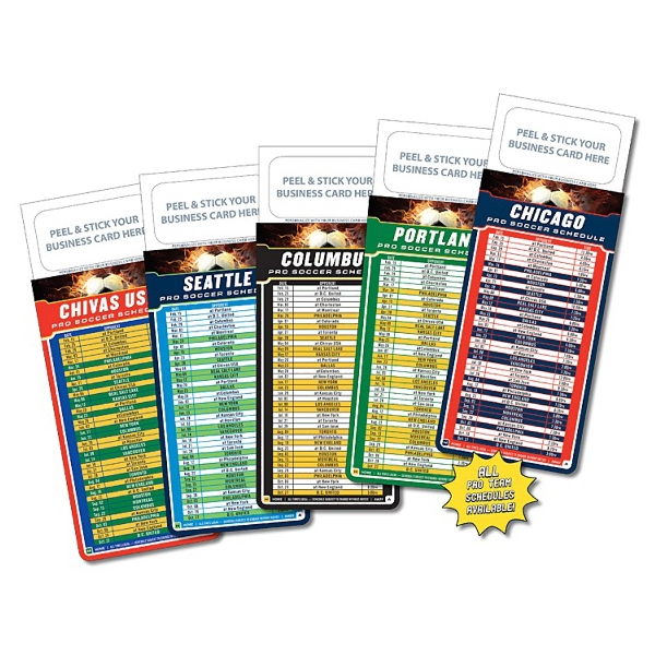 "M.b.c. Sport Schedules - Pro Soccer (3.5"" X 9""). Available To Ship In February Photo"