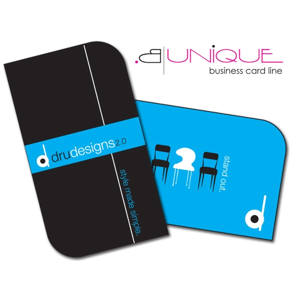 B. Unique - Extra-thick Uv-coated (1s) Paper Business Card - Shape (3.5x2) Photo