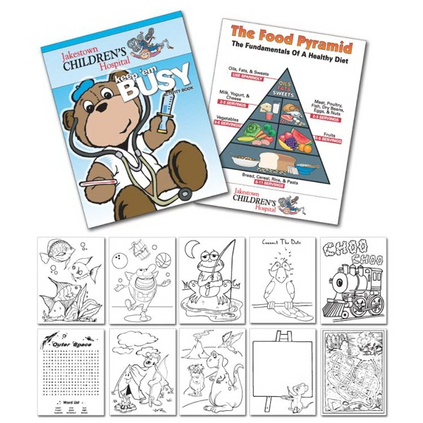 "Activity Coloring Book - 8.5"" X 11"" - (12-page Doctor) Photo"