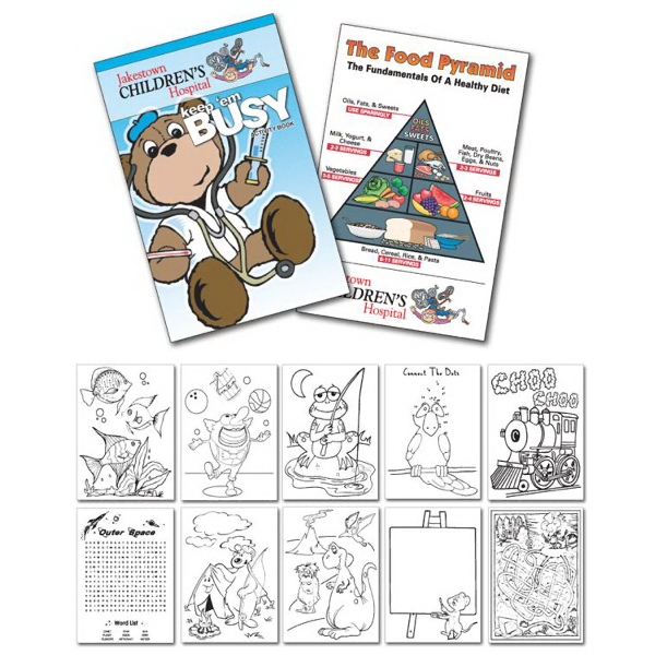 Activity Coloring Book - 5.5 X 8.5 - (12-page Doctor) Photo