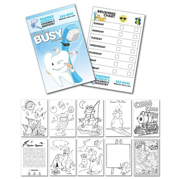 Activity Coloring Book - 5.5 X 8.5 - (12-page Dentist) Photo