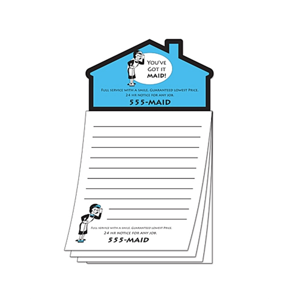 Magna-pad (tm) - Custom - 3.5 X 6.25 50-sheet Pad With House Shape Magnet Photo