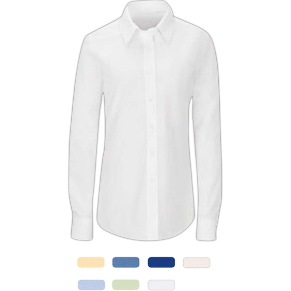 Women's Linden Grey® point collar solid blouse