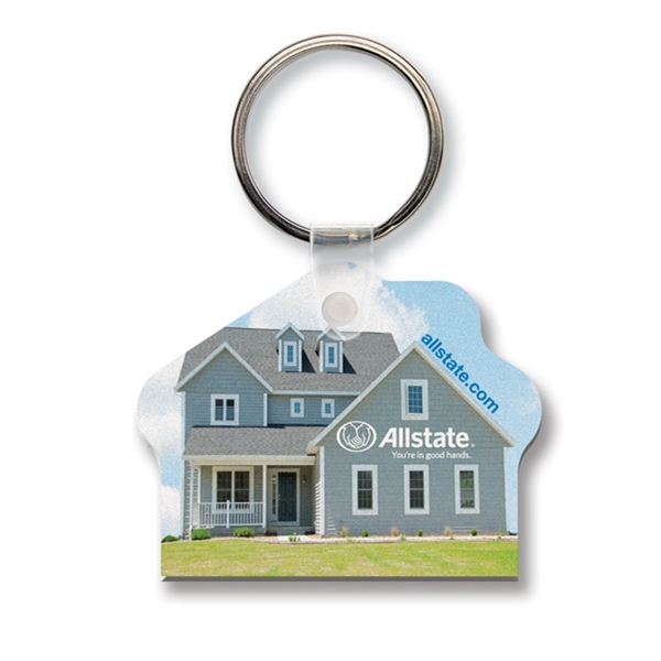 Sof-color (tm) Economy - Key Tag - House - Full Color. Flexible. Durable, Digital Four Color Process Print Photo