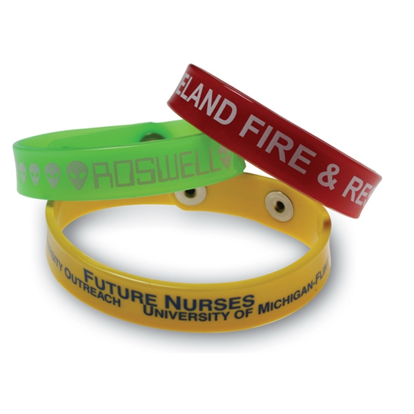 Arm Bandit (tm) Sof-touch (tm) - Wristband - Bracelet. Spot Color Screen Print Guaranteed Permanent Photo