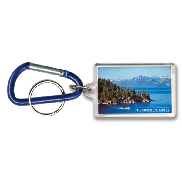 Key Tag - Rectangle w/Carabiner Clip - Full Color