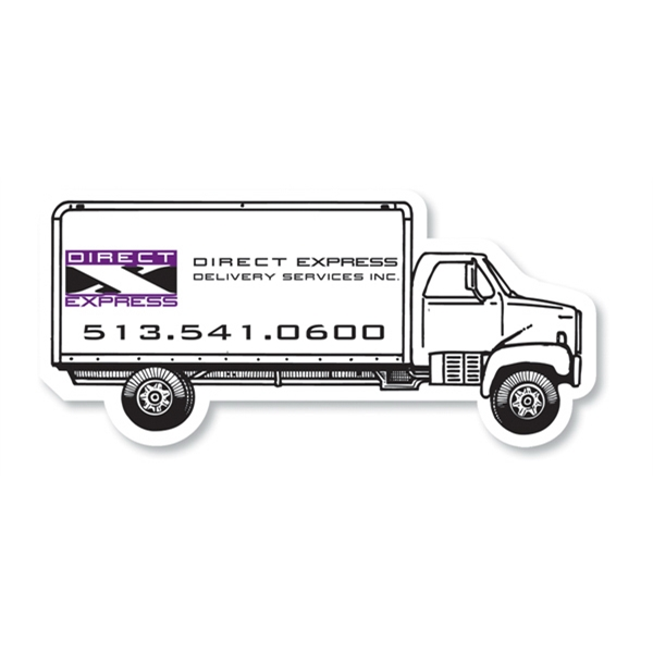 50 Mil - Magnet - Delivery Truck - Full Color. Digital Four Color Process Print Photo