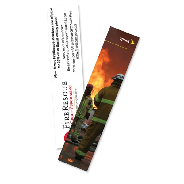 Laminated Card Stock - Bookmark. Digital 4-color Process Print On 2 Sides; 8-point Photo