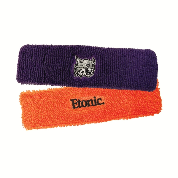 Full Knit Headbands With 1-6 Color Embroidery Photo
