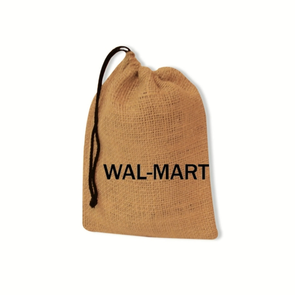 "7"" X 9"" Natural Burlap Drawstring Bag Photo"