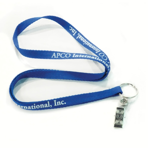 "3/8"" Ribbed Woven Polyester Lanyards Photo"