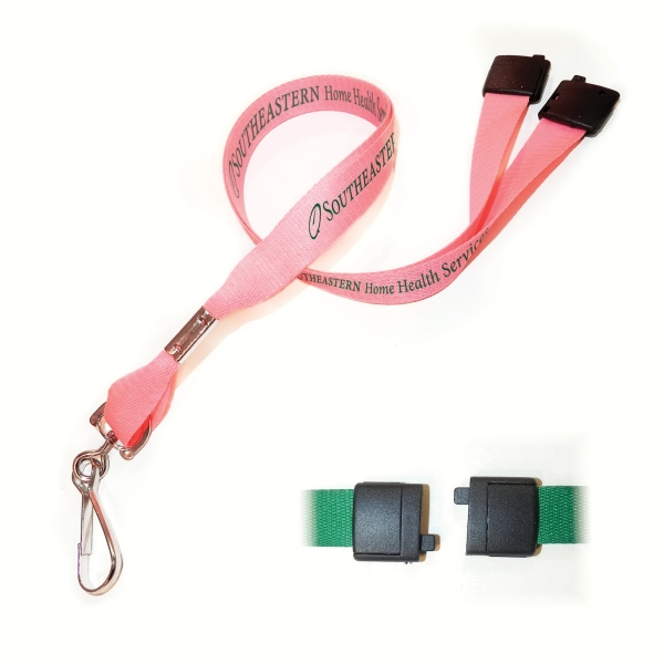"5/8"" Made In Usa Original Design Polyester Lanyards - With Safety Breakaway Photo"