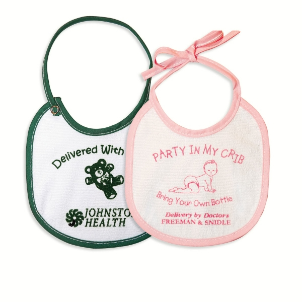 "6-1/4"" X 6-3/4"" Baby Bib With Tie Or Snap Closure Photo"
