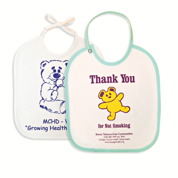"10"" X 12"" Baby Bib With Tie Or Snap Closure Photo"