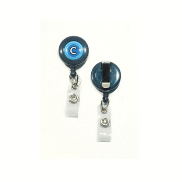 Retractable Pull Reel With Multi-color Flat Label - Solid Colors Photo