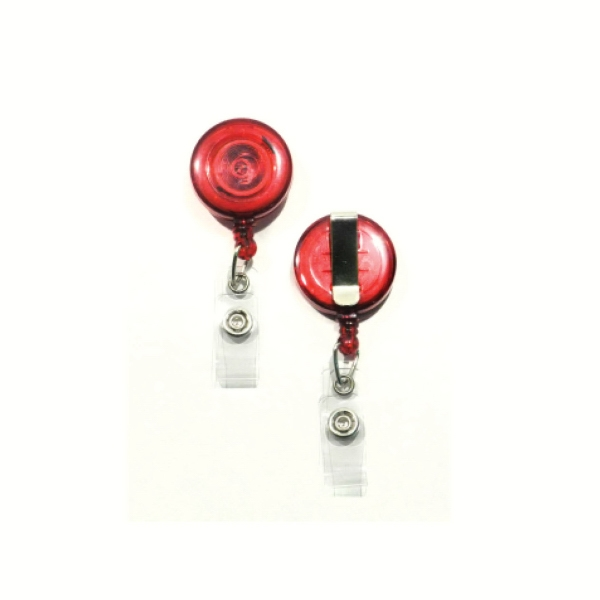 Unimprinted Retractable Pull Reel - Translucent Colors Photo