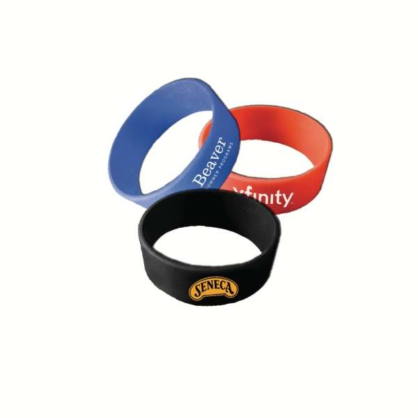 "1"" Quick-turn Silk Screened Silicone Wristbands Photo"
