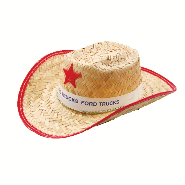 Straw Kid's Sheriff Hat With Imprinted Band Photo