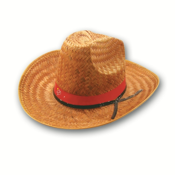 Cocoa Hi-top Straw Hat With Imprinted Band Photo