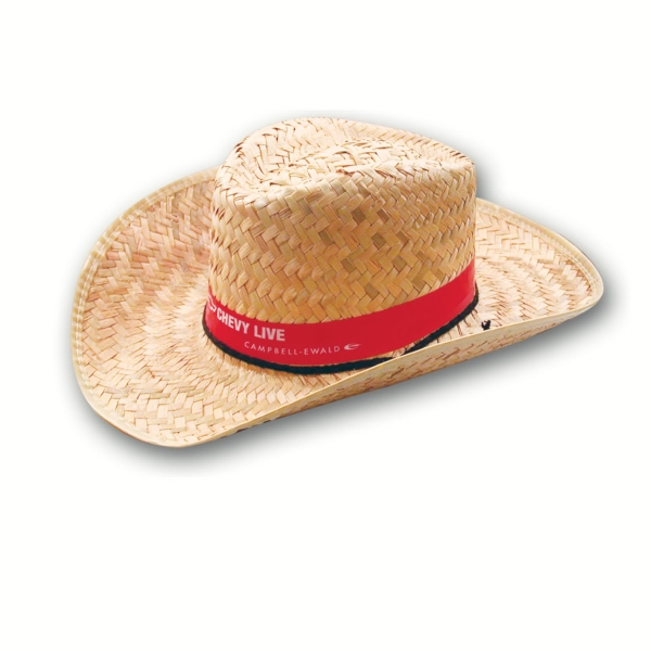 Western Straw Hat With Imprinted Band Photo