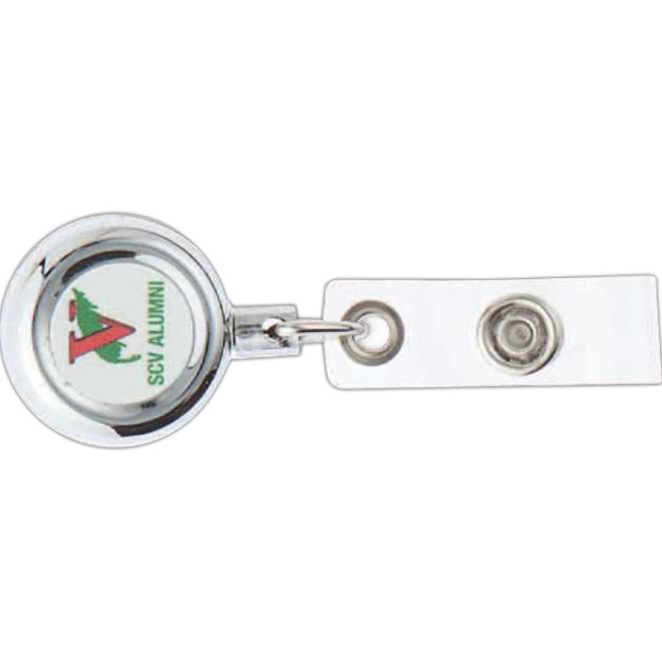 Metal Badge Pull With Badge Strap Photo