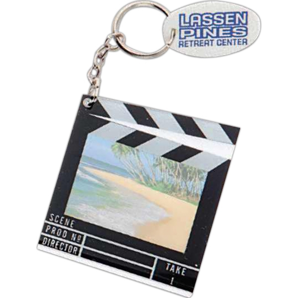 Lucite Key Holder With Miniature Movie Clapboard That Holds A Photo Photo