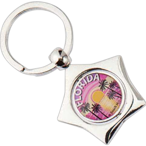 Star Shaped Spinner Keychain Photo