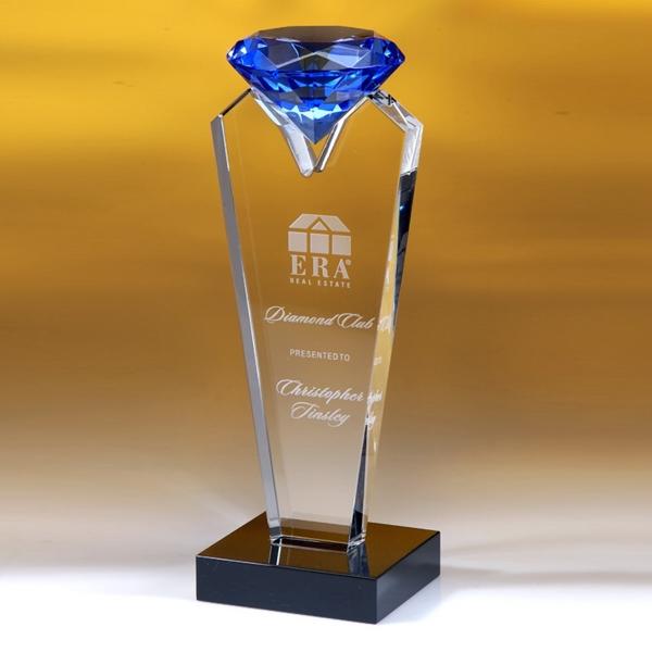 "Award-Blue Rising Diamond  8"""
