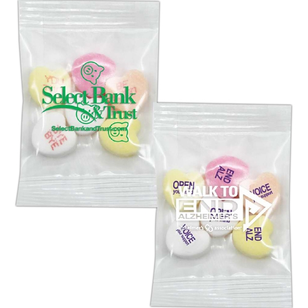Promo Snax (r) - Conversation Hearts With 3 Custom Messages And 3 Random Preprinted Messages Photo