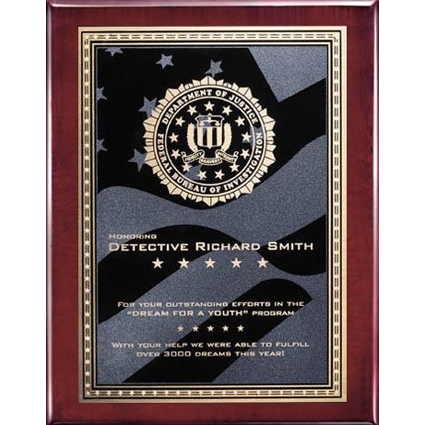 Oakleigh/Stars and Stripes Plaque - Rosewood