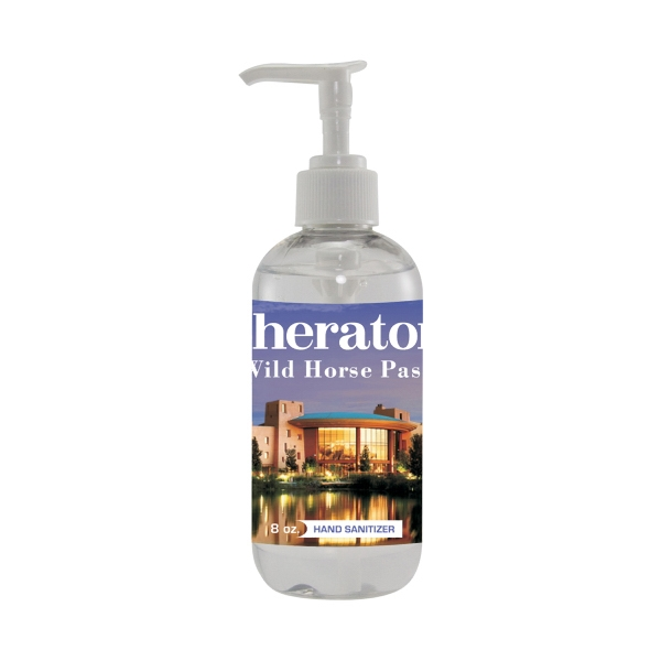 Hand Sanitizer Heros - 8 Oz. Hand Sanitizer. Antibacterial/anti-germ Hand Sanitizer In 8 Oz Bottle Photo
