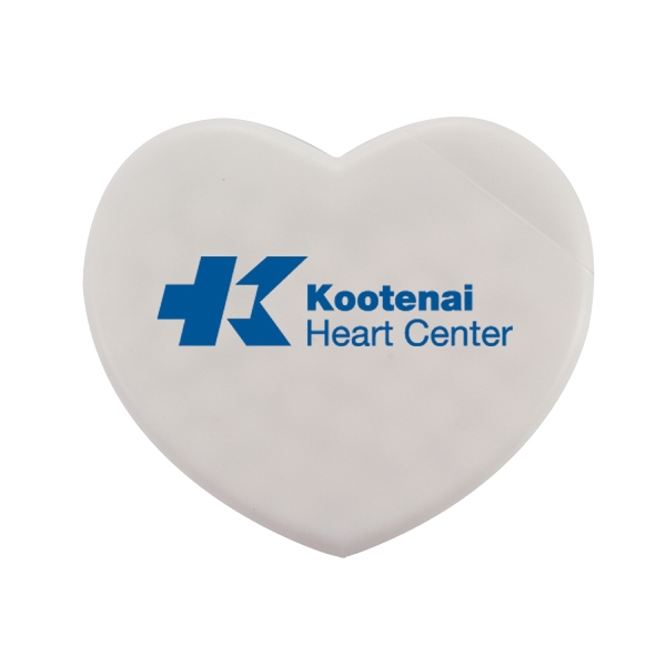 Heart-Shaped Plastic Card Dispenser with Sugar Free Mints
