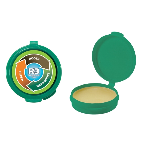 Lip Balm Flavor Mania - Green - Lip Balm In Round Case. Lip Balm/lip Moisturizer/lip Gloss/chapstick In Case Photo