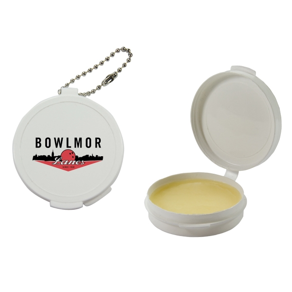 Lip Balm Flavor Mania - White - Lip Balm In Round Case. Lip Balm/lip Moisturizer/lip Gloss/chapstick In Case Photo