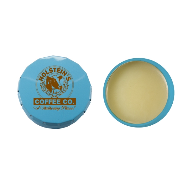 Lip Balm Flavor Mania - Lip Balm Snap Top Tin - Light Blue. Snap Top Tin With Lip Balm/lip Gloss/moisturizer Photo