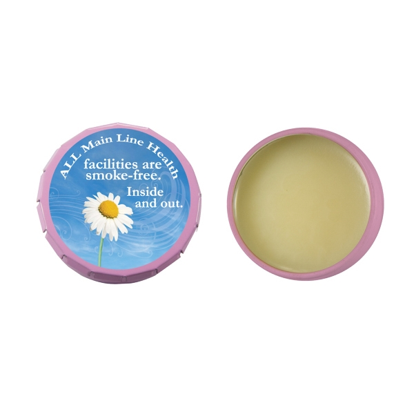 Lip Balm Flavor Mania - Lip Balm Snap Top Tin - Pink. Snap Top Tin With Lip Balm/lip Gloss/lip Moisturizer Photo