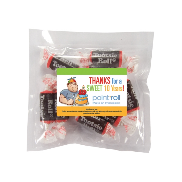 Candy King - Large Promo Candy Pack With Tootsie Rolls. Tootsie Rolls In Promotional Candy Pack Photo