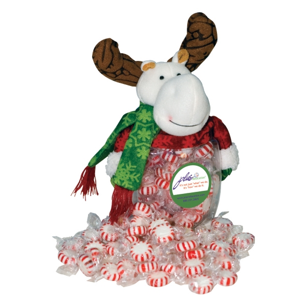 Food Gifts Superstore - Moose Candy Jar. Moose Candy Jar Filled With Starlite Breath Mints Photo