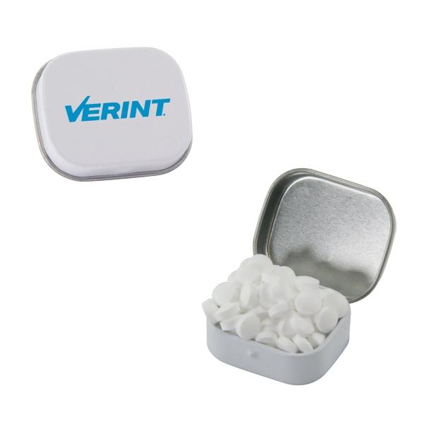 White Mini Mint Tin with Sugar-Free Mints