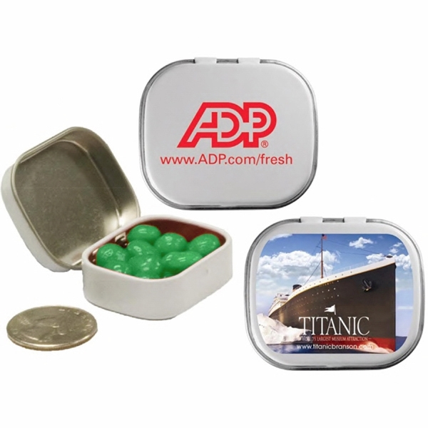 Mint Man - Mini Tin With Spearmint Breath Mints. Spearmint Breath Fresheners In Candy Tin Photo