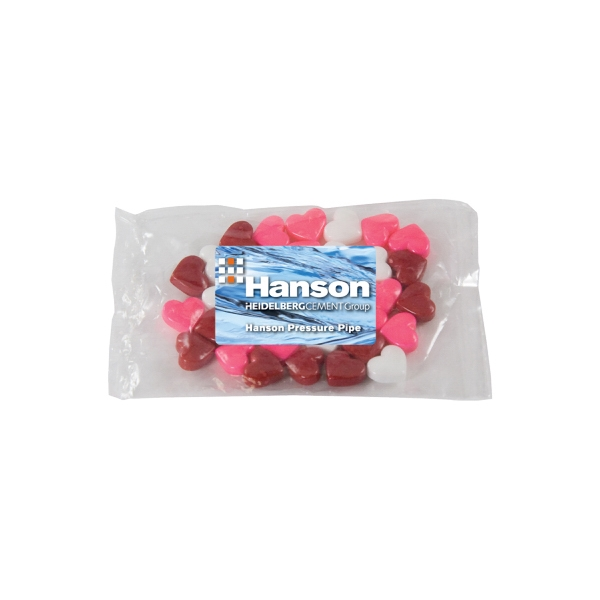 Candy King - Small Promo Candy Pack With Candy Hearts. Heart Shaped Candy In Promo Pack Photo