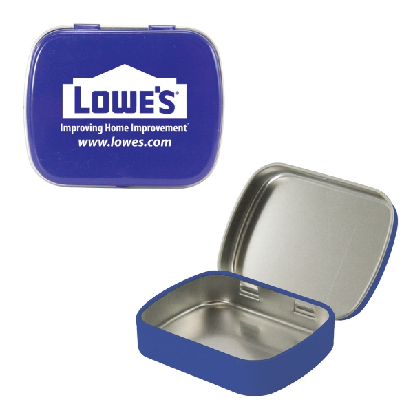 Mint Tin Maniacs - Empty Blue Small Mint Tin. Can Be Filled With Mints, Candy, Or Gum Photo